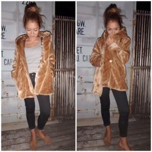 Fake Fur Coat 《CAMEL》