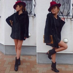 Fake Fur Coat 《BLACK》