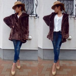 Fake Fur Coat 《BROWN》